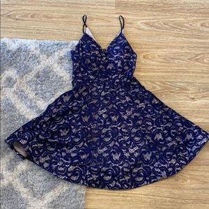 Sequin Styles Fit & Flare Dress